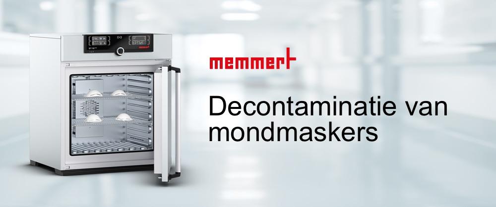 sterilisatie mondmaskers - Memmert